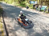 Démonstration de descente en « Caisse à savon » par des pilotes des championnats de France et d'Europe