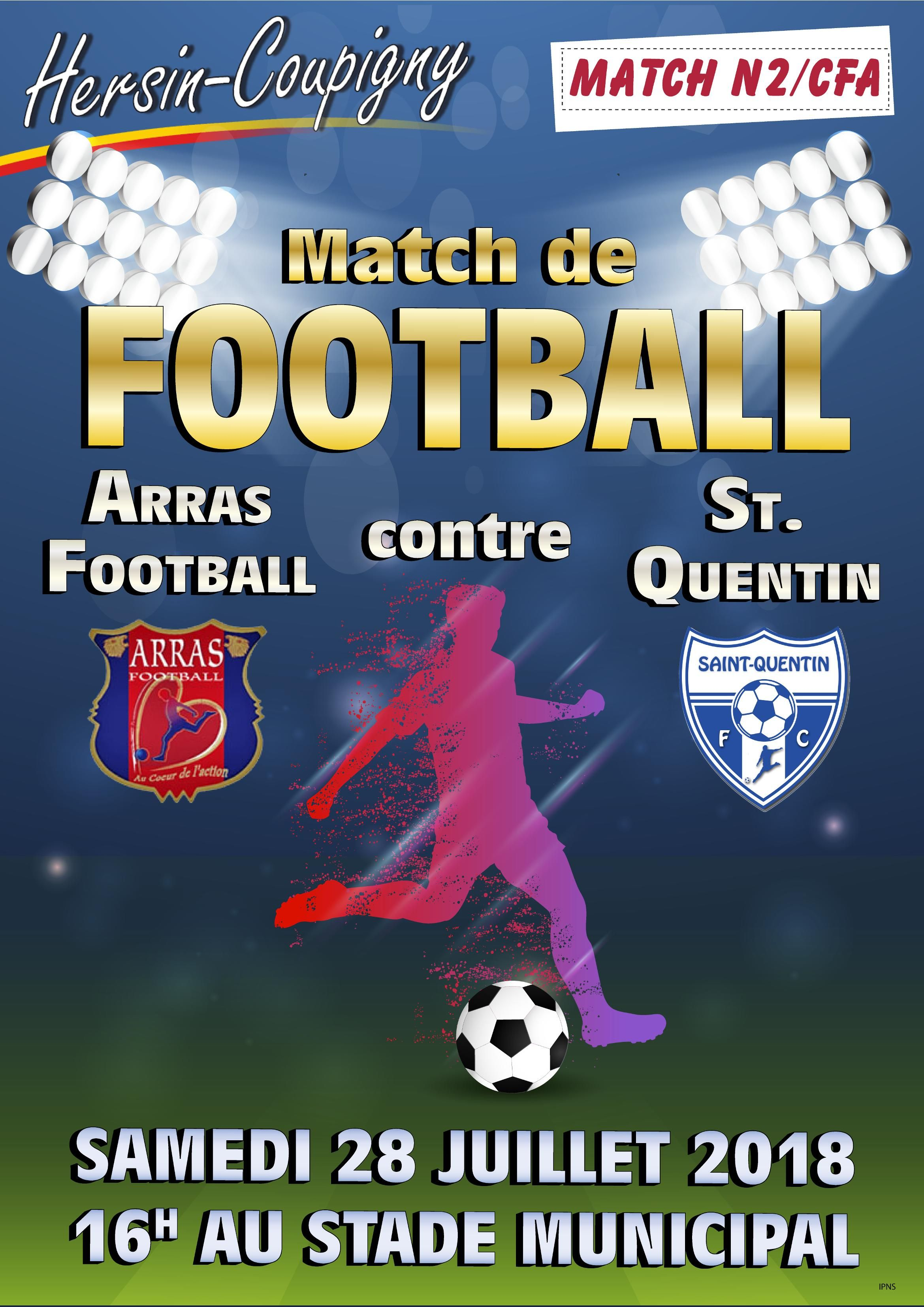 Match de football Arras (N2) – St-Quentin (CFA) @ Stade municipal | Hersin-Coupigny | Hauts-de-France | France