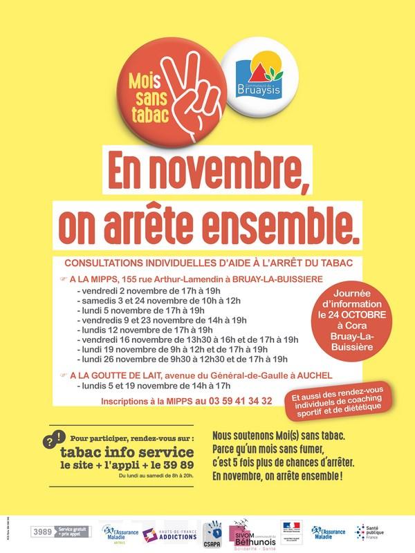 Mois sans tabac : Journée d'information @ Cora