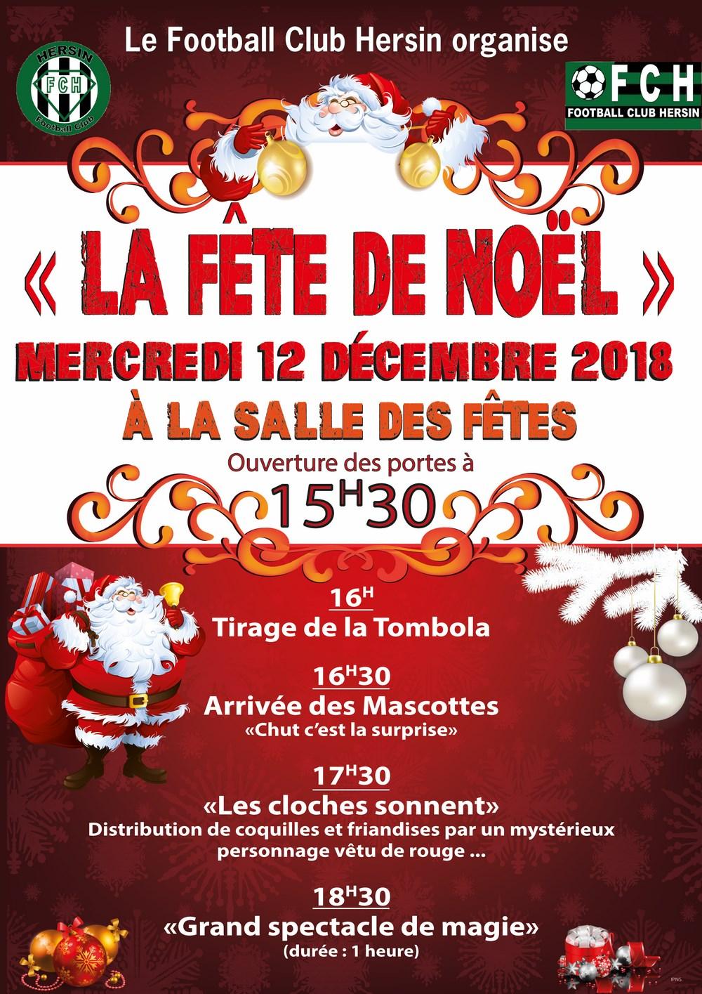 """""""La Fête de Noël"""" du FC Hersin @ Salle des fêtes"""