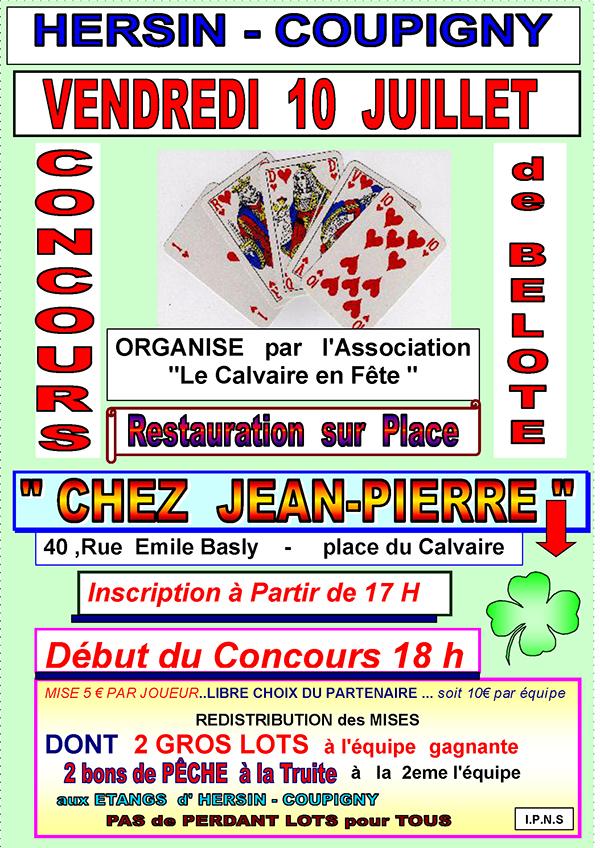Concours de Belote @ café Jean-Pierre | Hersin-Coupigny | Hauts-de-France | France