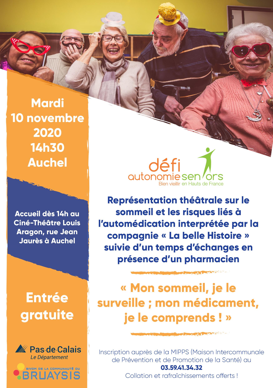 Représentation théâtrale sur le sommeil et les risques liés à l'automédication @ Ciné-Théâtre Louis Aragon | Auchel | Hauts-de-France | France