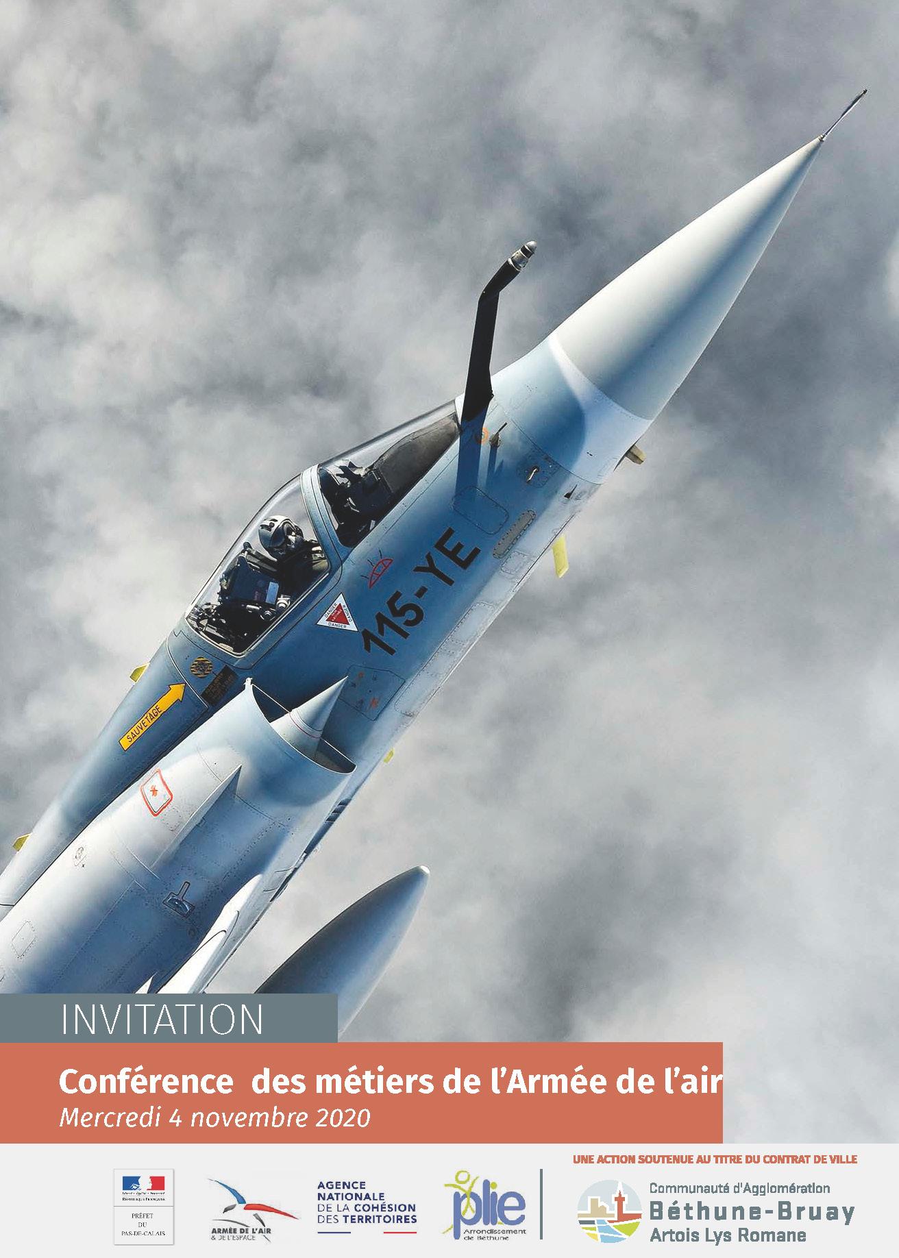Conférence des métiers de l'Armée de l'air ANNULÉE @ Nœux-les-Mines | Hauts-de-France | France