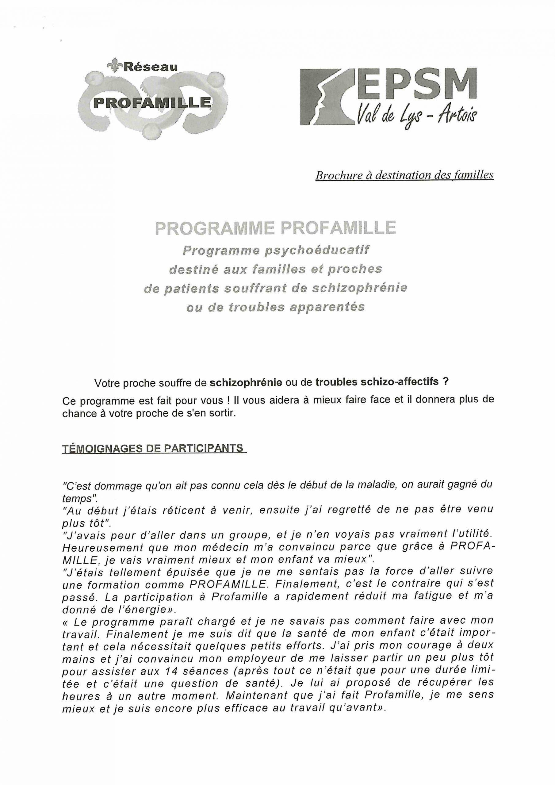 Programme destiné aux familles et aux proches de patients souffrant de schizophrénie ou de troubles apparentés @ CMP de Béthune | Béthune | Hauts-de-France | France