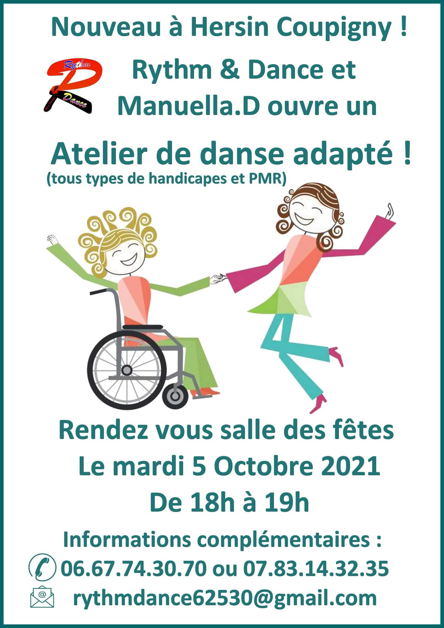 Atelier de danse adapté (pour tous types de handicapes et PMR)