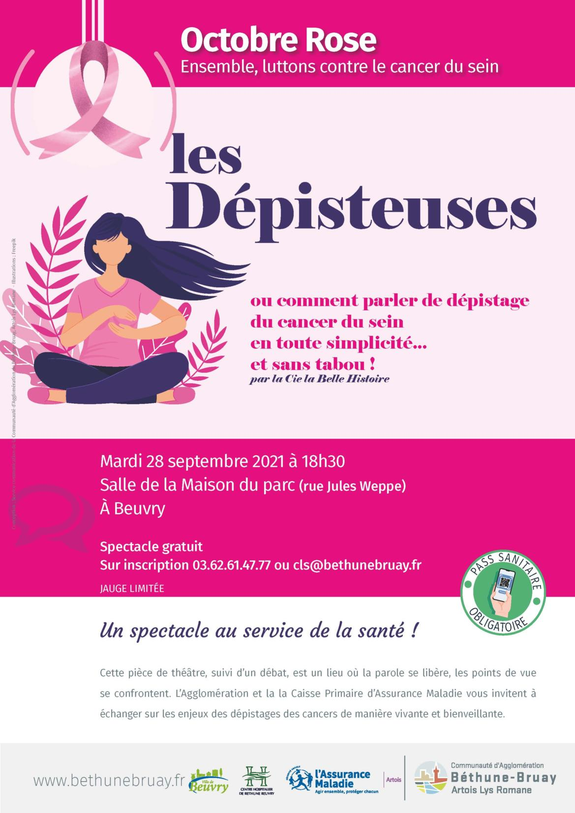 Octobre Rose : Les Dépisteuses... @ Salle de la maison du Parc   Beuvry   Hauts-de-France   France
